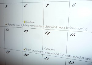 A Simple Calendar For Your Garden Home Information Gurucom