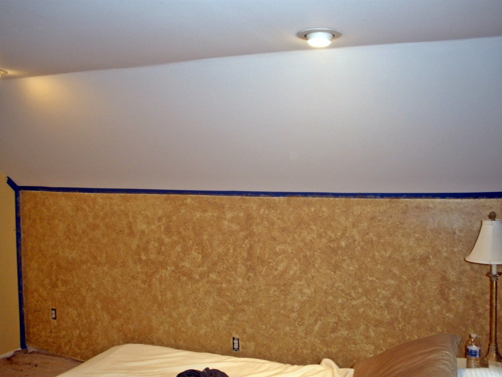 faux painted wall