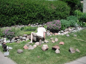 home improvement ideas-landscape rocks
