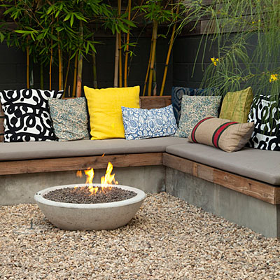 Garden garden seating area ideas for Garden sit out designs