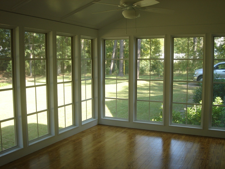 Some important suggestions to transform an open columned for Large windows for sunroom