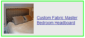 custom fabric master bedroom headboard