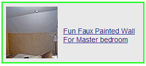 fun faux painted wall for master bedroom