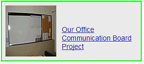 our office communication board project
