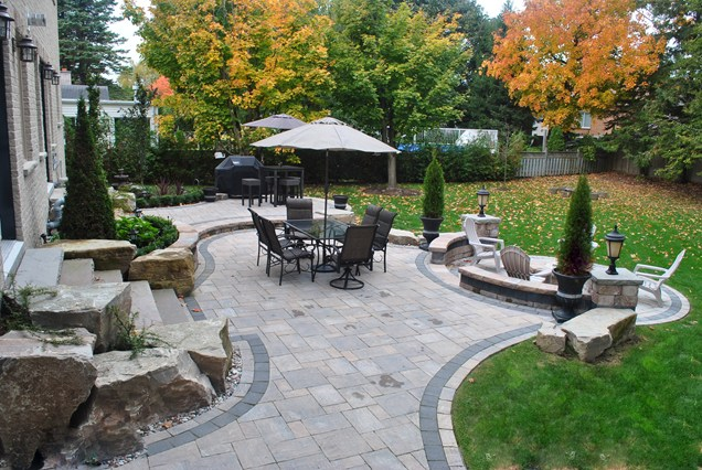 backyard patio landscaping ideas  nh backyard, Landscaping/