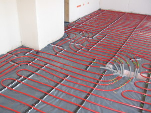 underfloor heating layout