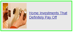 home investments that definitely pay off