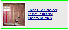 things to consider before insulating your basement walls